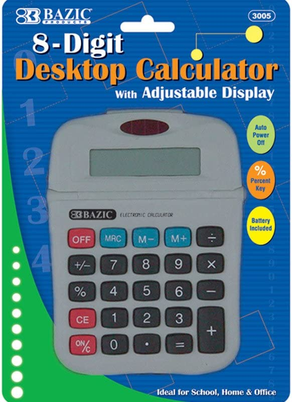 Calculator with Adjustable Display 8-Digit Manufacturer OFFicial shop 100% quality warranty 3 of Pack