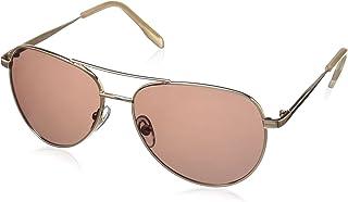 نظارات شمسية من Foster Grant للنساء Prelude عدسات مستقطبة Aviator ذهبي/ وردي مقاس 60 ملم
