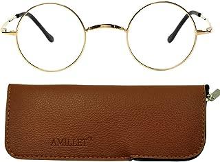 Retro Men's Round Titanium Eyeglass Frames