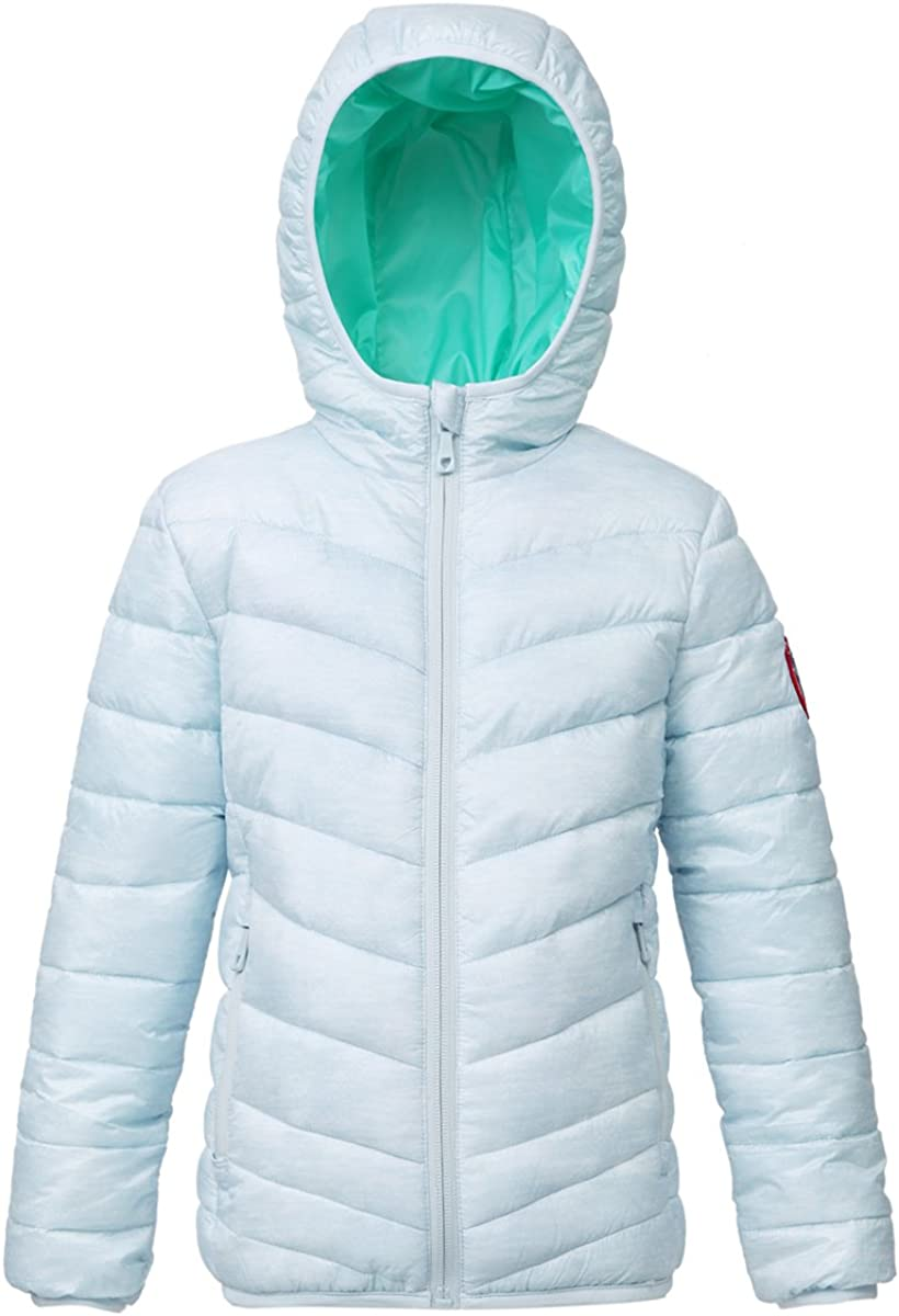 RokkaRolla Girls' Reversible Hooded Super sale period limited Lightweight Water Recommendation Resistant