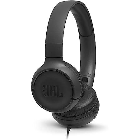 JBL Tune500 - Casque supra-auriculaire - Léger et pliable - Avec commande mains libres - Autonomie jusqu'à 16 hrs - Noir