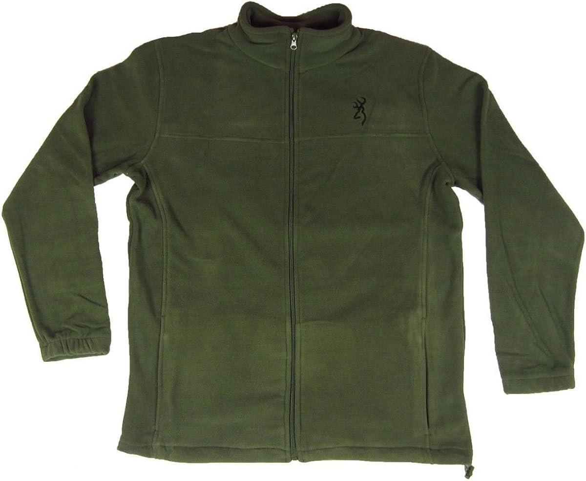 Browning Mens Laramie Jacket Fleece Full Zip Clover Green Medium