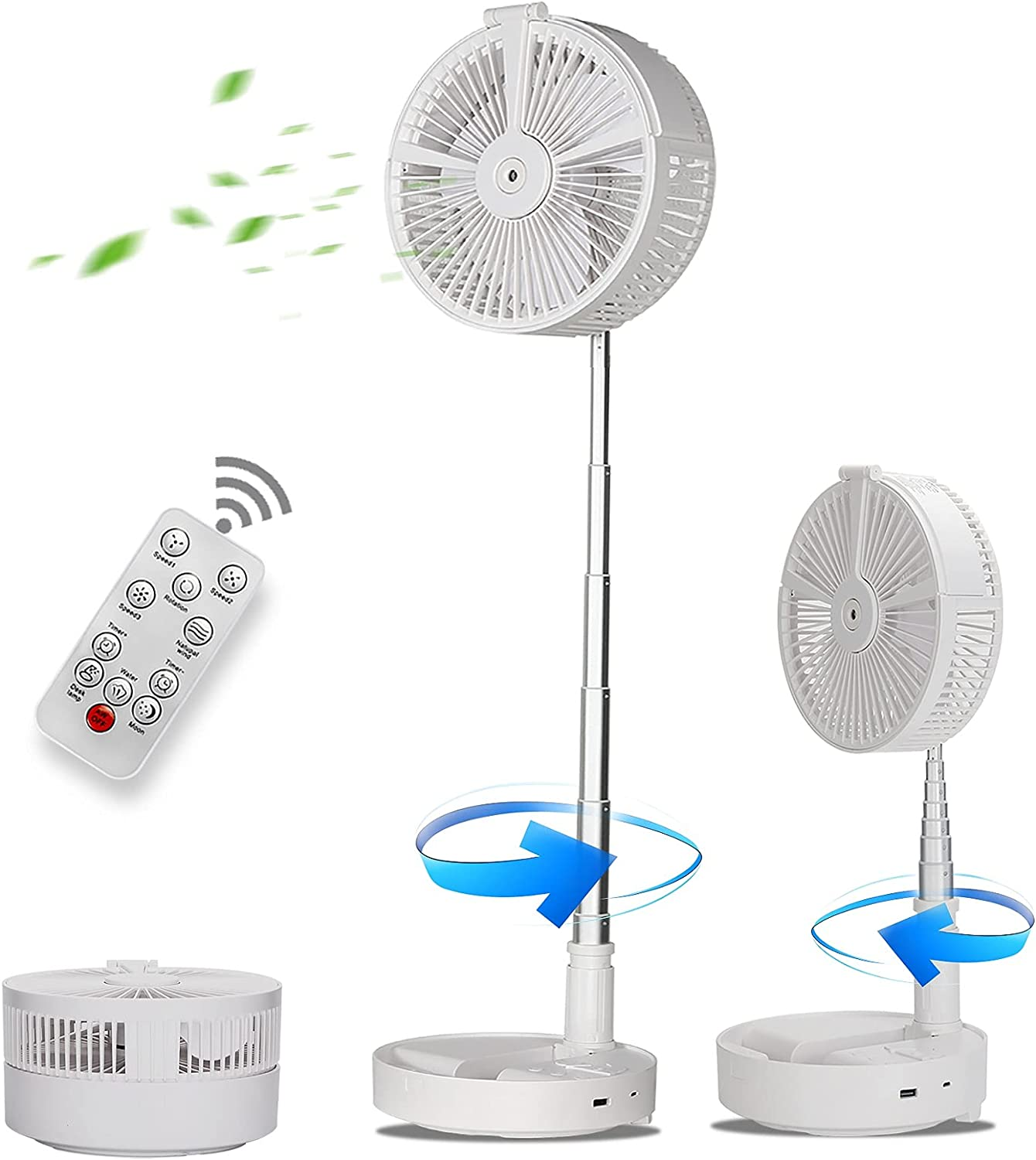 Howkes Fan for Bedroom Rotating with price Manufacturer direct delivery Char Remote Control;USB