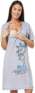 Happy Mama. Camisón premamá de embarazo y lactancia. Cartoon estampado. 366p