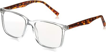 WS // Blue Light Blocking Glasses forfor Computer Use, Anti Eyestrain UV Filter Lens Lightweight Frame Eyeglasses, Men/Women