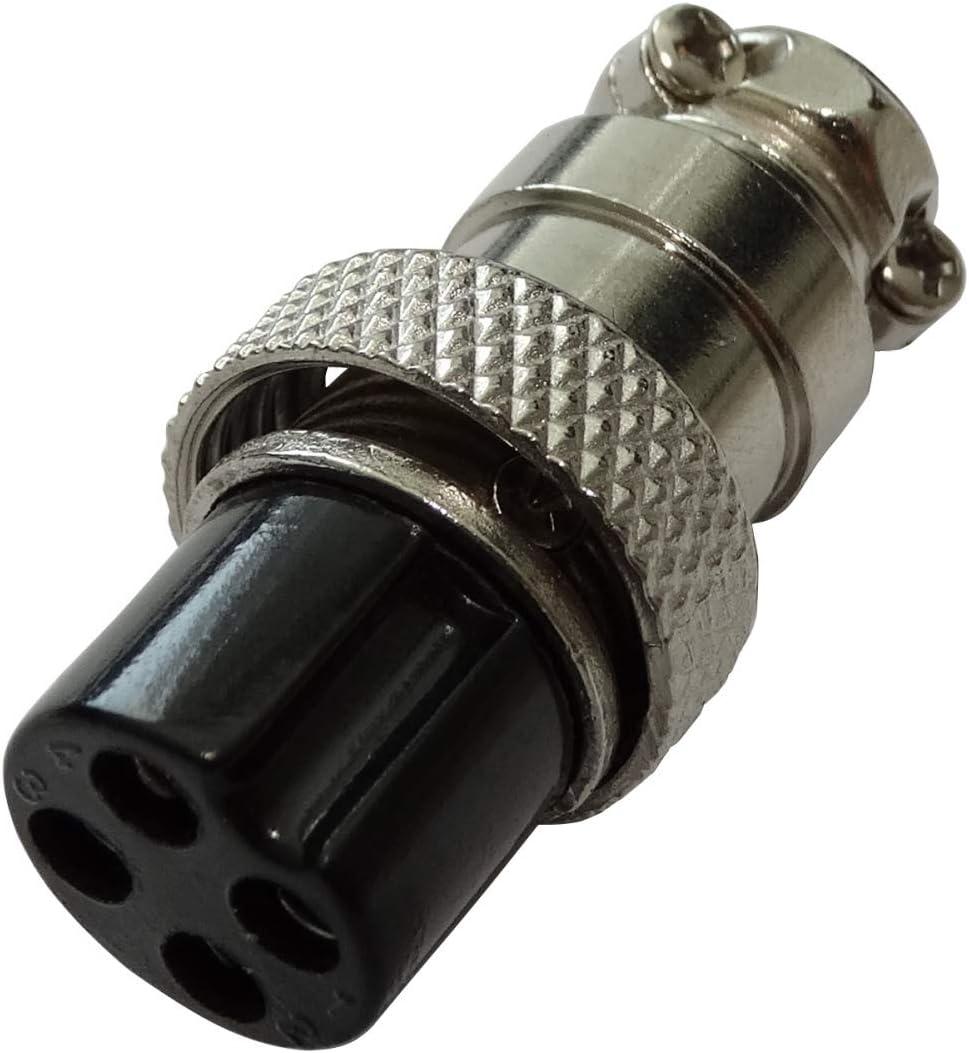 de soldar para Cable C43576 AERZETIX: Conector de micr/ófono GX16-8p Enchufe Macho Recto de 8 Pines