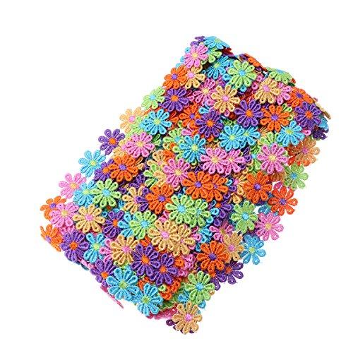 ULTNICE Blumen Spitzenborte Spitzenband für Kleidung Handwerk Scrapbooking Hochzeit Deko 15 Yard