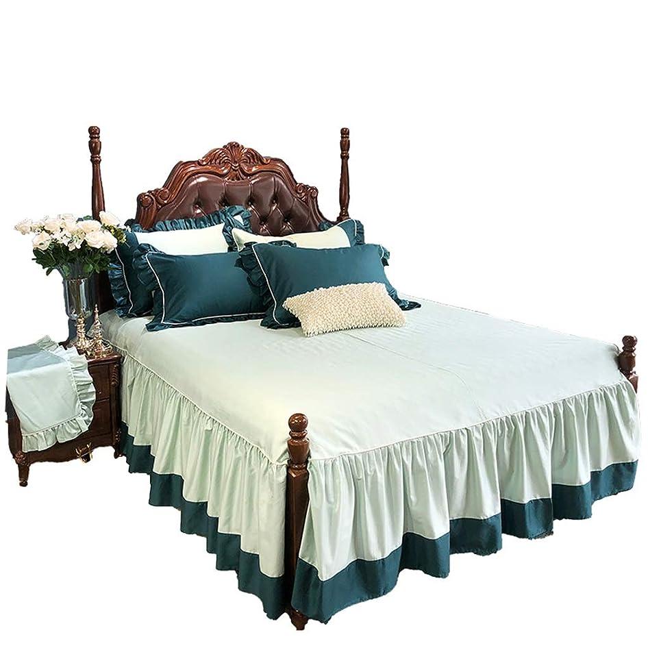 水平鋭く不適切なしっかりとした高級ホテル品質の生地の寝室のほこりのしわ寄り滑り止め滑り止め保護ケース (サイズ さいず : 180x200cm)