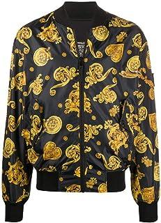 Versace Jeans Couture Men's Baroque Print Bomber Jacket Black
