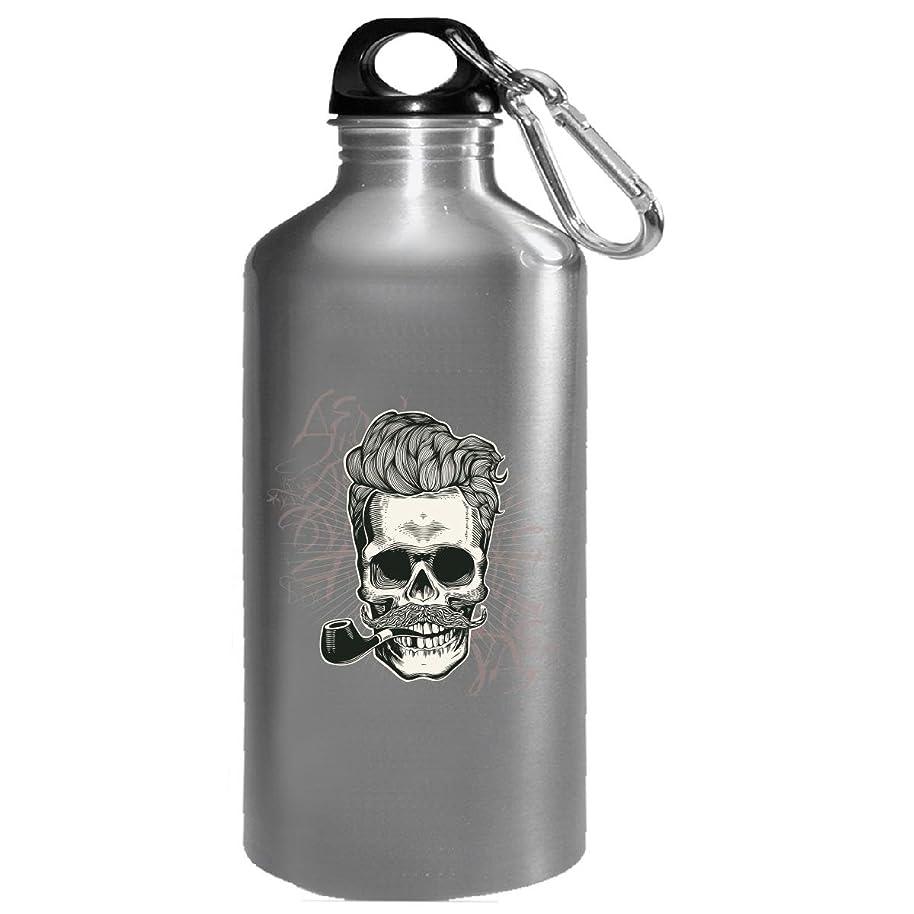 Skull Swag Theme Design Holding Pipe - Water Bottle