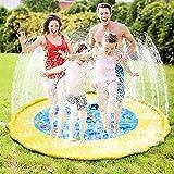 """Sprinkle Splash Play Mat - Kid 58"""" Inflatble Outdoor Water Play Pad Summer"""