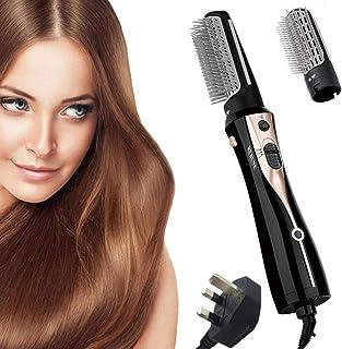 REBUNE RE-2078-2 1200W Hair Dryer Brush 3 In 1 Hot Air Styler Straightening & Curling Fast Heating (3s) Hair Styler with 2...