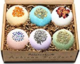 Mother's Day Organic Bath Bombs Gift Set For Women All Natural with Epsom Salt Relaxation Dead Sea Salt - Natural and Safe Bath Bombs Kit for Kids Her Mom Mother Grandma Girlfriend - Best Gifts Idea