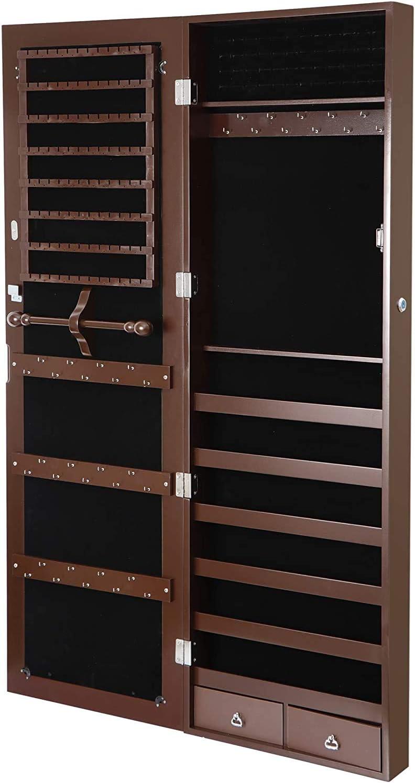 JungleA Jewelry Armoire Cheap sale 47 Cabinet Lockable Popular popular Wall Inches