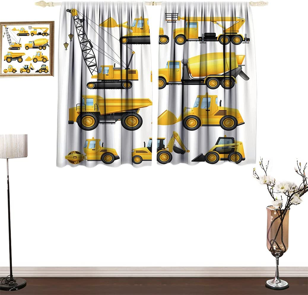 New item safety Amazing Boys Blackout Curtains Construction of Images Abstract