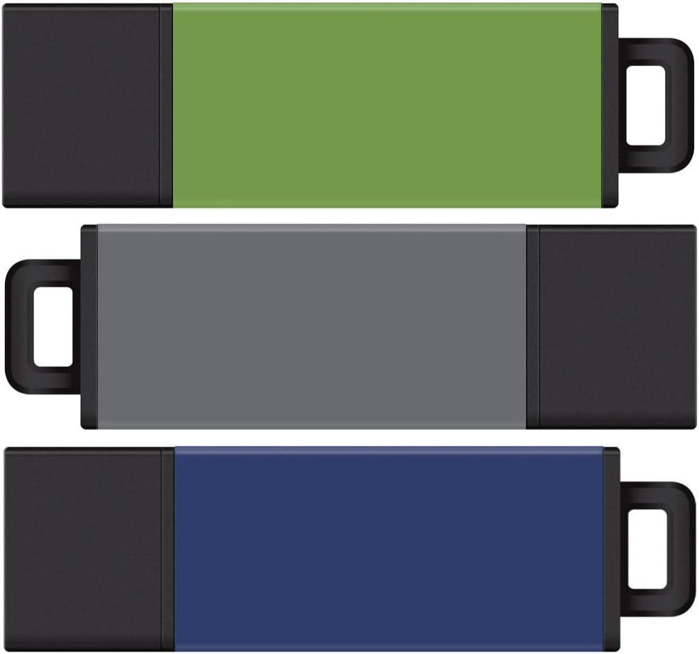 Centon MP Varietypack USB 3.0 Datastick Pro2 (Blue, Grey, Green), 8GB 3Pack