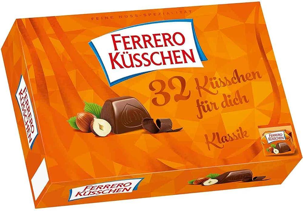 Ferrero küsschen 32 pezzi, 284g,cioccolattini al late con noccicole