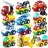JOYIN 80 bloques de construcción construyen su propio juguete coches conjunto ladrillos lindos diferentes vehículos para niños