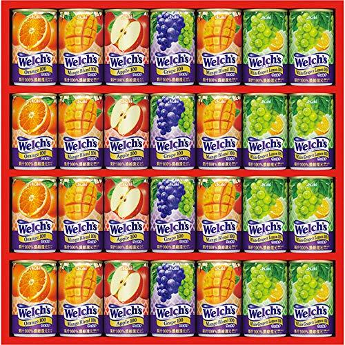 お中元 ジュース 乳酸飲料 人気商品 カルピス ウェルチ 100%果汁 ギフト (28本) WS-30N