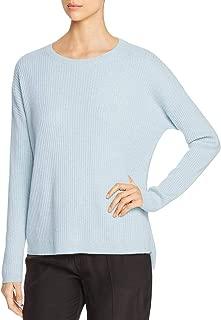 Womens Petites Cashmere Jewel Neck Sweater
