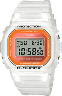 Casio G-Shock DW5600LS-7 Fluorescent Color Series White & Orange Square Unisex Watch
