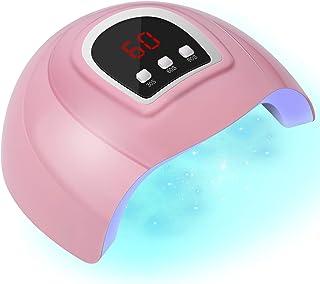 چراغ ناخن LED ، ناخن خشک کن حرفه ای 54 وات ، خشک کن ناخن قابل حمل با نمایشگر تایمر / سنسور / LCD مناسب برای ناخن های دست و پا ، خانه و سالن