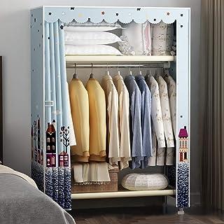 Armoire à vêtements Organisateur de rangement pour placard Support de rangement pour vêtements avec tissu non tissé, 1 tig...