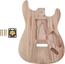 Baoblaze Exquisite DIY Guitar Blank Body Barrel Material with Neckplate for Stratocaster ST Electric Guitar Accessory