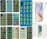 KX-Mobile Hülle für Samsung A51 Handyhülle Motiv 2024 Frosch Frösche Premium 360 Grad Fullbody durchsichtig mit Bild SchutzHülle Softcase HandyCover Handyhülle für Samsung Galaxy A51 Hülle