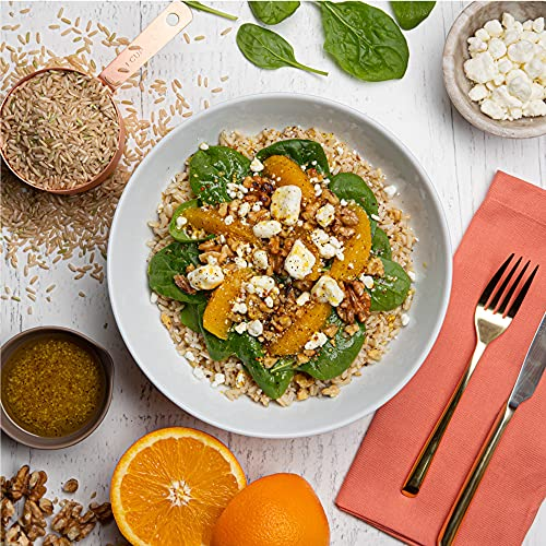 Lundberg Family Farms - California Brown Basmati Rice, 100% Whole Grain, High Fiber, Pantry Staple, Great for Cooking, Non-Sticky, Gluten-Free, Non-GMO, Vegan, Kosher (32 oz), 2 Pound