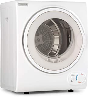 Klarstein Jet Set 2500 - Secadora de ropa, Carga frontal, Potencia 850 W, Independiente, EEC C, 2,5 kg, Resistencia de PTC...