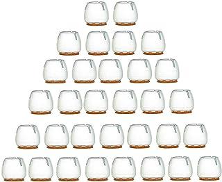 Vordas 32 Piezas Tapas para Las Piernas de la Silla, Protectores de Piso para Pata de Silla para el Suelo para 25 – 29 mm Patas Redondas