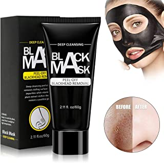 Black Charcoal Mask, Foreverrise Blackhead Remover Mask, Deep Cleansing Pore Blackhead Removal Peel Off Facial Mask for Face & Nose For All Skin 60g