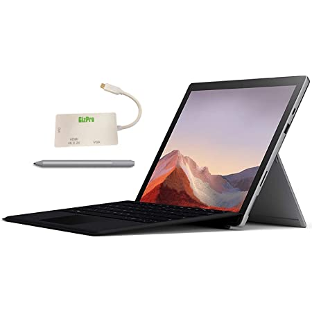 "Microsoft Surface Pro 7 Bundle – 12.3"" Touch - Intel i7-10th Gen 16GB Ram - 512GB SSD–Platinum– Windows Pro - Bundle: Microsoft Surface Pen Platinum, Microsoft Type Cover Black & GIZPRO USB-C Dock"