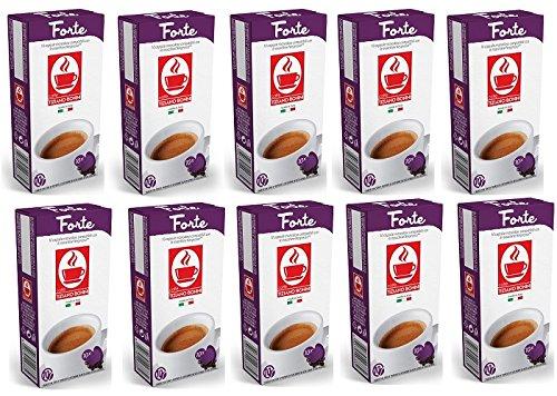Forte Kaffeekapseln- 200 Stück (20 Pack à 10 Kapseln) Kompatible Kaffeekapseln von Caffè Bonini Italien. Kompatibel für Nespresso Maschinen*