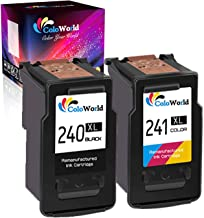 ColoWorld Remanufactured Ink Cartridge Replacement for Canon PG-240XL CL-241XL 240 XL 241 XL Used in PIXMA MG3620 TS5120 MX472 MX452 MG3522 MG2120 MG3520 MG3220 Printer (1 Black, 1 Color)