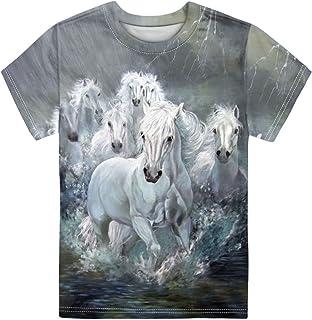 UZZUHI Kids Tshirts Boys Boys Short Sleeve Crewneck Tees Shirts Casual Sport Pullover Tops Size 3-16 Age