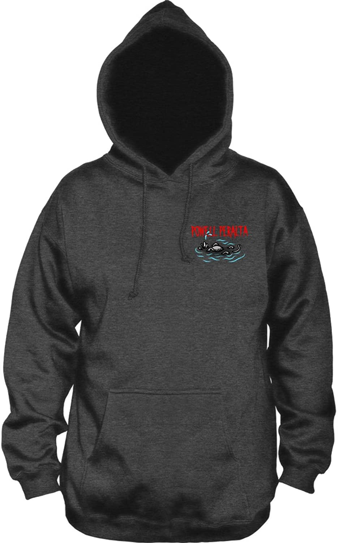 PowellPeralta Mighty Pool Skull Hooded Sweatshirt Charcoal Small