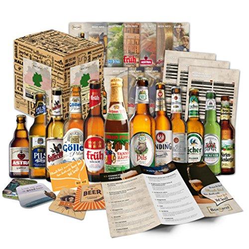 """'""""Biere del Mundo regalo + + Información de cerveza + + Catas de instrucciones + + cerveza Tapa. Hombres de cumpleaños/Navidad/día del padre. El regalo inusual y especiales"""