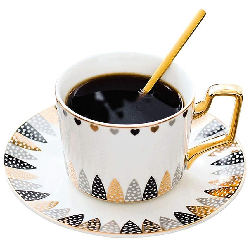 正統派スマートメニュースープカップ 2コーヒーカップのセットコーヒーマグパーティーヴィンテージフローラルティーカップとソーサーセット 湯呑み (色 : グレー, サイズ : ワンサイズ)