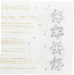 garcía de POU 804.14Serviettes Double point New Snow, 18G/m2, 33x 33cm, Blanc