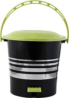 Kuber Industries Plastic Dustbin Garbage Bin with Handle, 5 litres (Green) -CTKTC043059