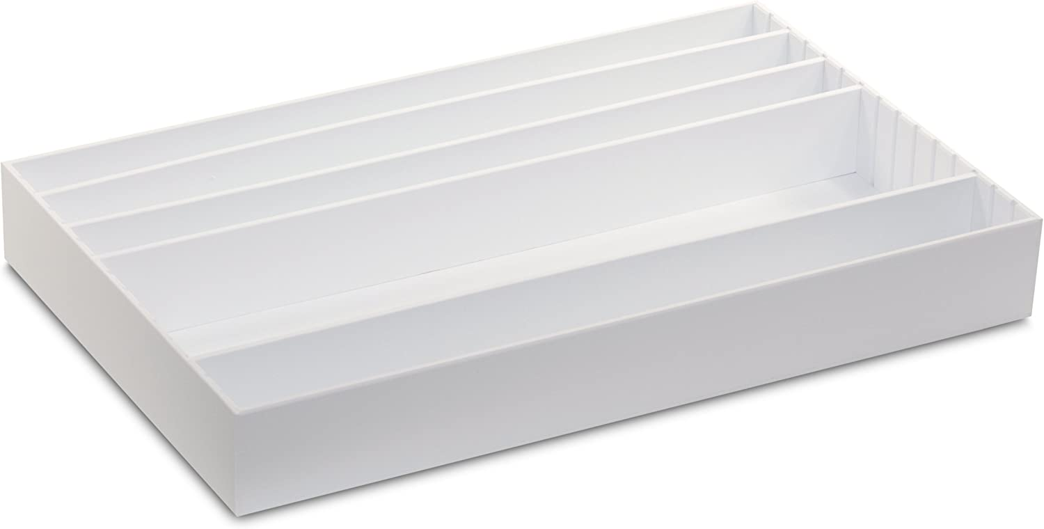 TrippNT 50069 Large Pipet Storage Box with Adjustable Compartments, 25-Inch Width x 3-Inch Height x 16-Inch Depth