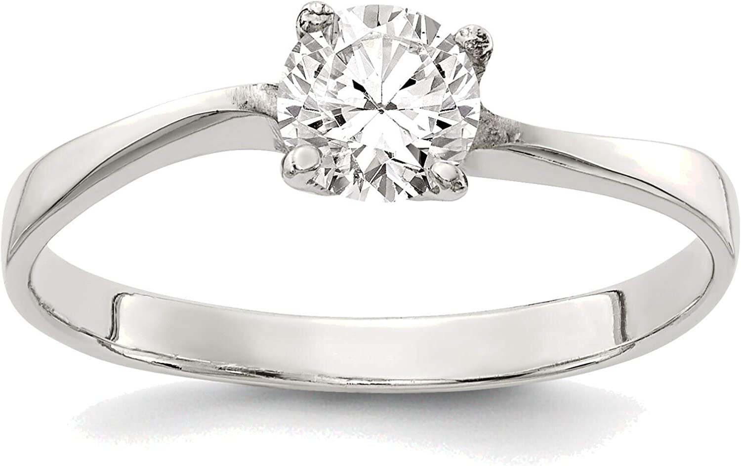 Bonyak Jewelry Solid Sterling Silver in Ring 6 CZ Size Industry No. 1 Genuine Free Shipping