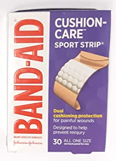 BAND-AID Bandages Sport Strip Extra Wide 30 Each (Pack of 8)