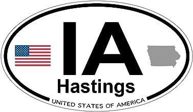 Hastings, Iowa Oval Sticker