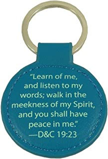 LDS 2018 Youth Theme Key Ring Peace in Christ Doctrine and Covenants 19:23 (1)