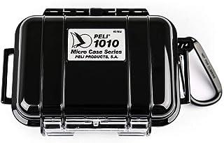 PELI 1010 Micro Case, Protección estanca para pequeñas pertencias en actividades al aire libre como kayak, escalada, playa o windsurf, IP67 estanca, 0,3L de capacidad, fabricada en EE.UU., color negro
