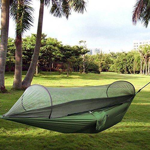 MYMM Hamac de Camping, Tissu de Nylon Portable Pliable, moustiquaires Ultraléger Tissu de Parachute Durable Hamac pour extérieur, Plage, Randonnée, Voyages, Plage, Cour arrière.