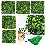 """DearHouse 12 Pieces 20""""x 20"""" Artificial Boxwood Panels Topiary Hedge Plant, Privacy Hedge Screen UV Protected Suitable for Outdoor, Indoor, Garden, Fence, Backyard and Decor"""